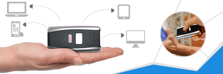 Pegasus PS1218 Mini Bluetooth Pocket BT Barcode / Symbol 1D / 2D Scanner , 4 mb / 200k records